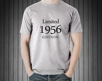 60th birthday gift, 60th Birthday shirt - Limited 1956 Edition - 60th Birthday L1956