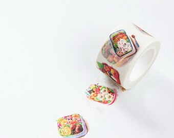 Sushi Bento Box Japanese Washi Tape, Masking Tape, Scrapbooking Stickers, Planner Stickers, Decorative Stickers - WT226