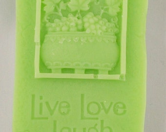 Vegetable Glycerin Soap, Live, Love, Laugh, Gift Soap, 3-D Soap, Decorative Soap, Gifts for Him, Gifts for  Friends, Gift for her