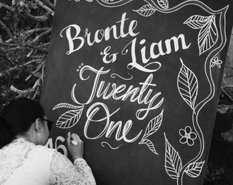 Custom Chalkboard - All Occasions - Contact to Discuss