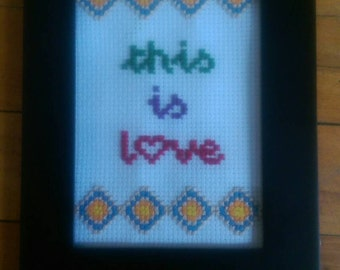 This Is Love Cross Stitch