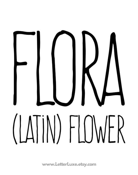 Flora name meaning art printable baby by letterluxeprintables for Floar meaning