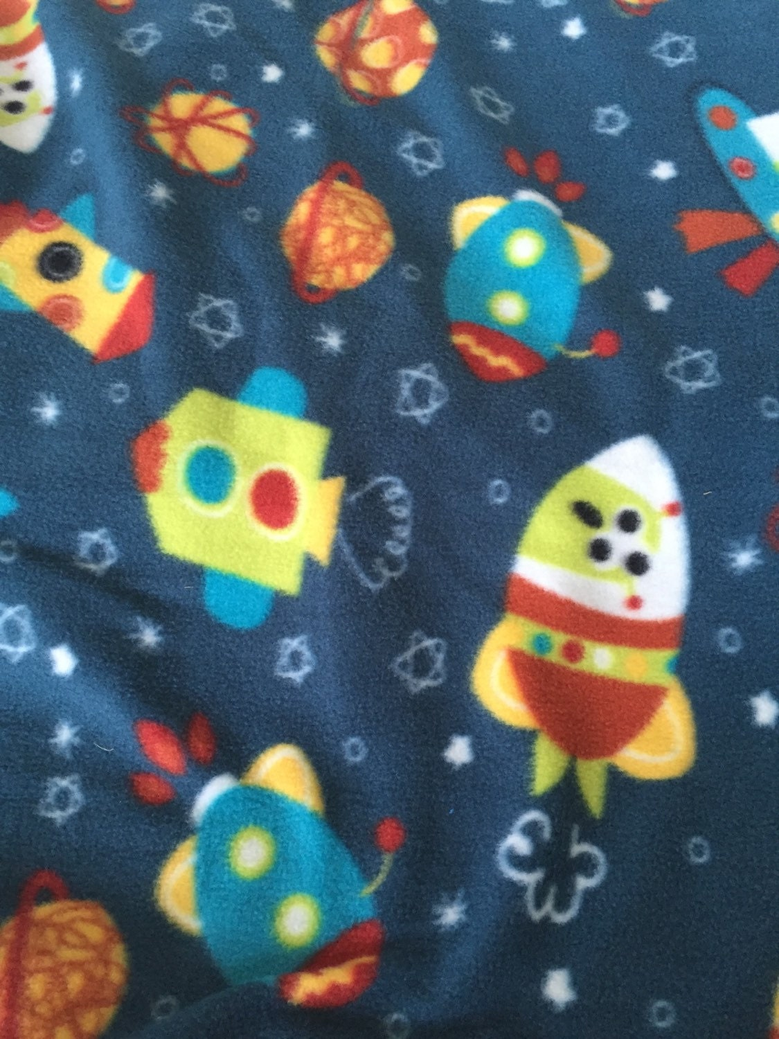 Martian alien fleece fabric anti pill fleece by willowfabric for Alien fabric