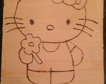 Hello Kitty Pyrography