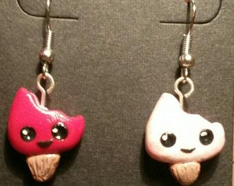 Popsicle creamsicle earrings