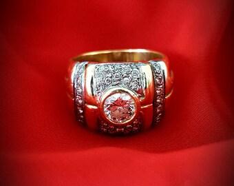 18k Gold Vintage Engagement Ring