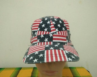 Rare Vintage FLAG Full Printed Cap Hat Free size fit all