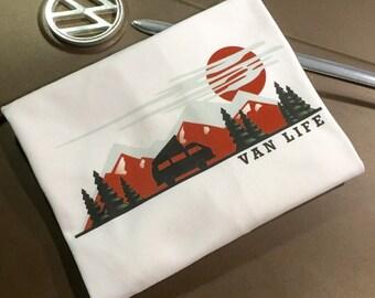 Van Life T-shirt.  Volkswagen Westfalia, Westy, Campervan, Camper Van, Camping, Camp More, Outdoors.