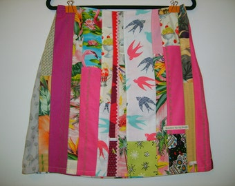 Size 10 Pink Patchwork Skirt