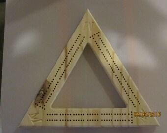 Triangle Cribbage Board