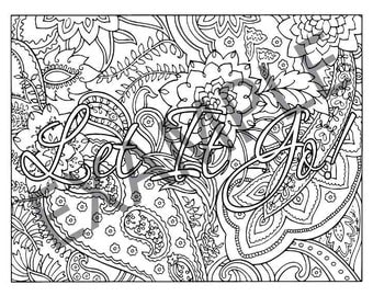 let it go printable adult coloring book page instant downloadable jpg pdf - X Rated Coloring Books