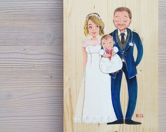 Personalized wedding illustration
