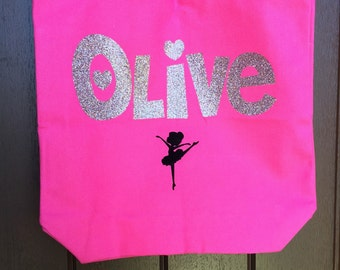 Personalized Dance Bag --Ballet Bag --Personalized Tote