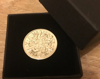 80th birthday gift 1937 Lucky Sixpence  Coin Boxed & Polished