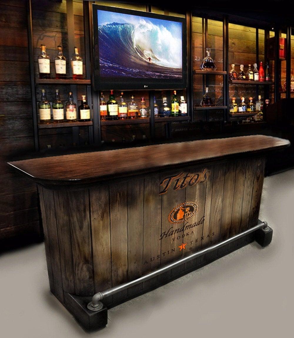 Home Bar Custom Hand Built Rustic Whiskey Pub Man Cave