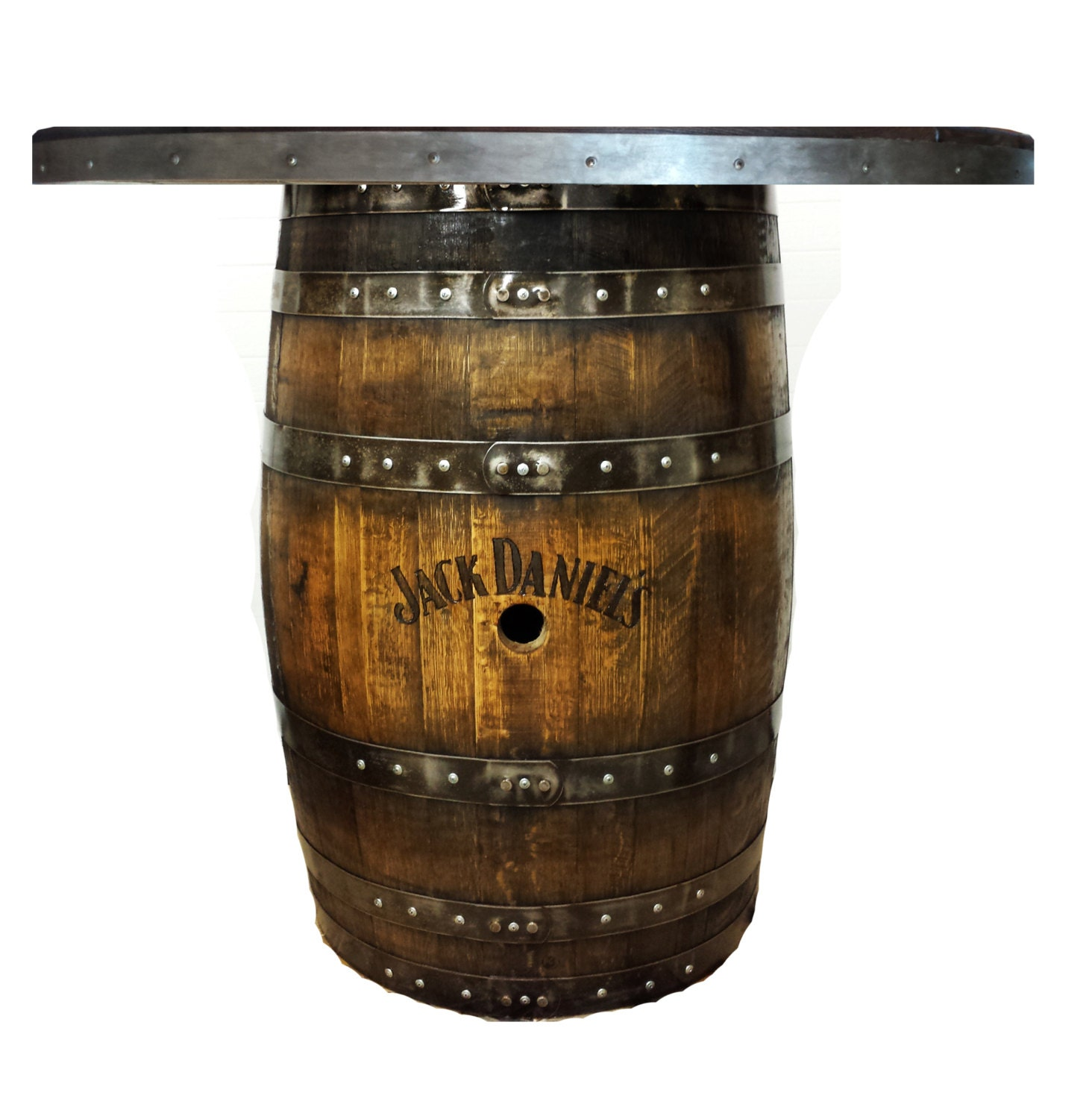 Sold Out Customizable Whiskey Barrel Pub Table By