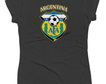 Argentina Soccer Country Shield Futbol Sports National Pride Heritage Juniors T-shirt SF_0211