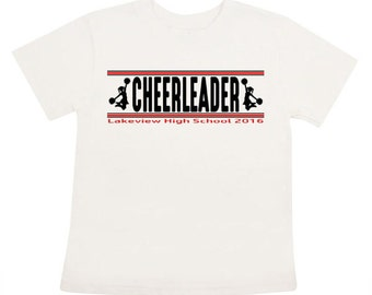 Customized Cheerleader Iron On transfer Personalized shirt DIY Your School cheerleader Cheerleadingtransfer printable
