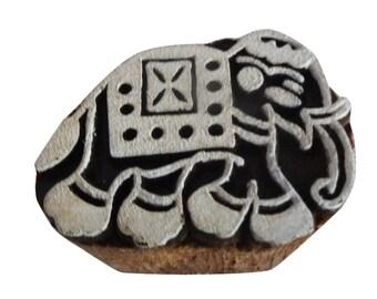 Antique Texture Blocks Elephnat Home Decor Designer Blocks Indian Wooden Carved Block Stamp 1 Pc
