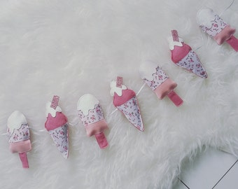 ice cream and ice lolly garland