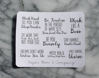 Motivational Quote Stickers