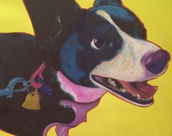 Custom pop art pet portrait - dog - Maggie