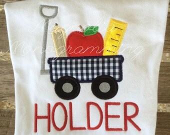 Back to School Wagon Appliqué Shirt