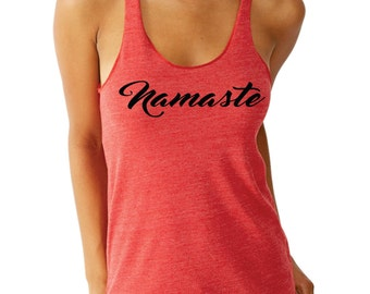 Namaste - alternative eco heather tank - super soft!