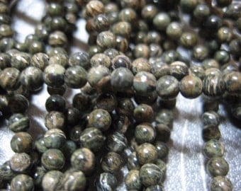 Zebra Jasper Round Beads 3mm 134pcs