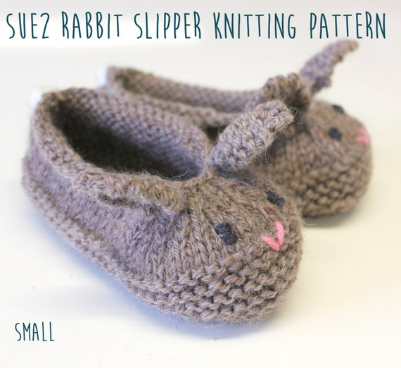 Knitting Slippers Patterns For Beginners : Rabbit slipper knitting pattern