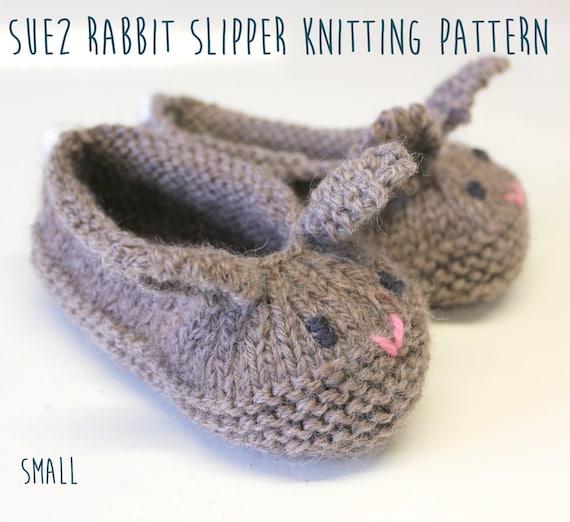 Rabbit Slipper Knitting Pattern