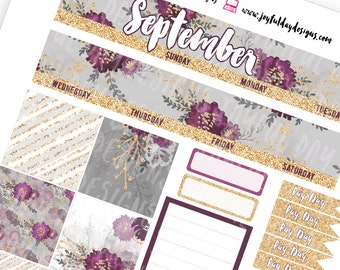 HAPPY PLANNER September Monthly View - Printable Planner Stickers Month Kit