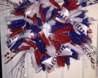 Fourth of July Deco Mesh