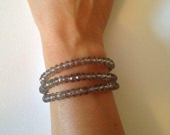 Crystal Triple Strand Bracelet