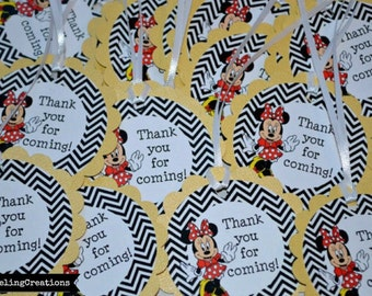 Minnie Mouse Birthday Tags, Minnie Mouse Thank You Tags, Minnie Mouse Cards, Minnie Mouse Birthday, Minnie Mouse Tags, Minnie Mouse