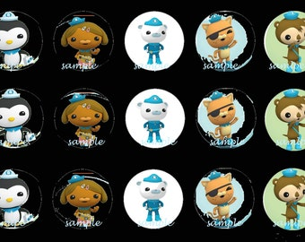 Octonauts 1 inch bottle cap images. Octonauts round images