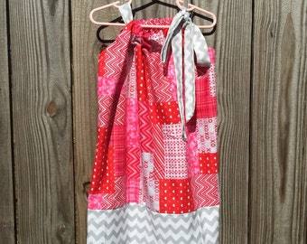 Valentine's Pillowcase Dress size 2T/3T