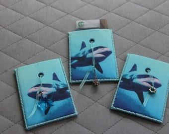 Shark card holder etsy for 106 door cards