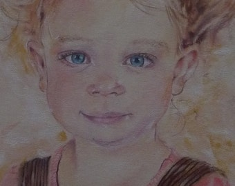 Custom Portrait, Pastel Drawing of your Child or Family Member