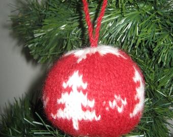 Julekugler/Christmas tricot ornament (christmas tree)