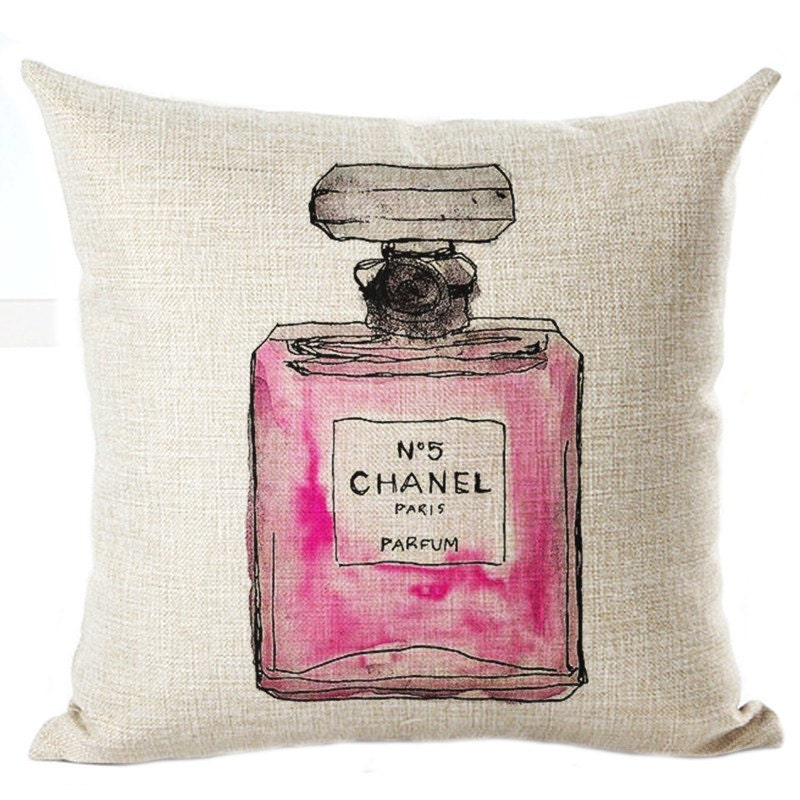 perfume bottles pillowcase home decor chanel by