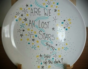 Lost In Stars Side Plate - Hand Decorated 'Sharpie Plate'