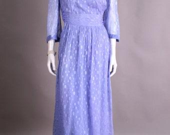 Purple evening dress, 80s