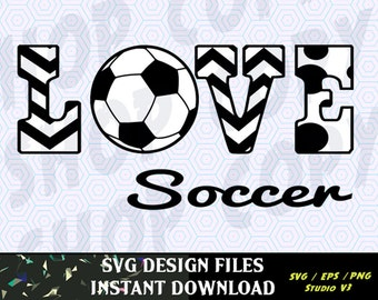 Love Soccer SVG Vinyl Cutting Decal, for Mugs, T Shirts, Cars  SVG files for Silhouette Cameo Cut Files, Svg  Cutting Files. SVG  Decal