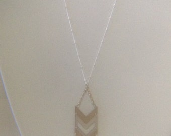 Silver and Gold Arrow Charm/Pendant Necklace