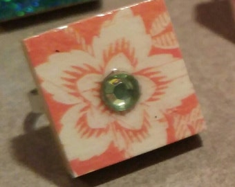 Ring with Orange Flower!