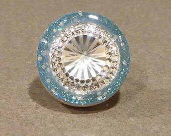 Baby Blue Sparkle Ring Bling!