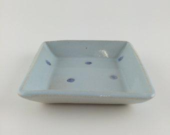 Handmade Ceramic Square Dish (10cm)