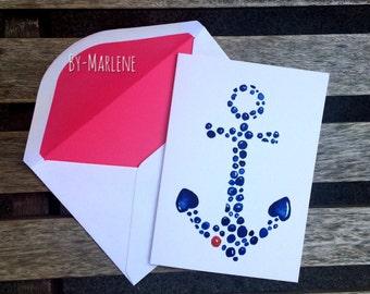 Greeting card • anchor •