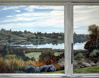 Waimea Inlet, from the Inside Out - Ltd Ed. Giclée Art Print on Canvas by Jane Nicol